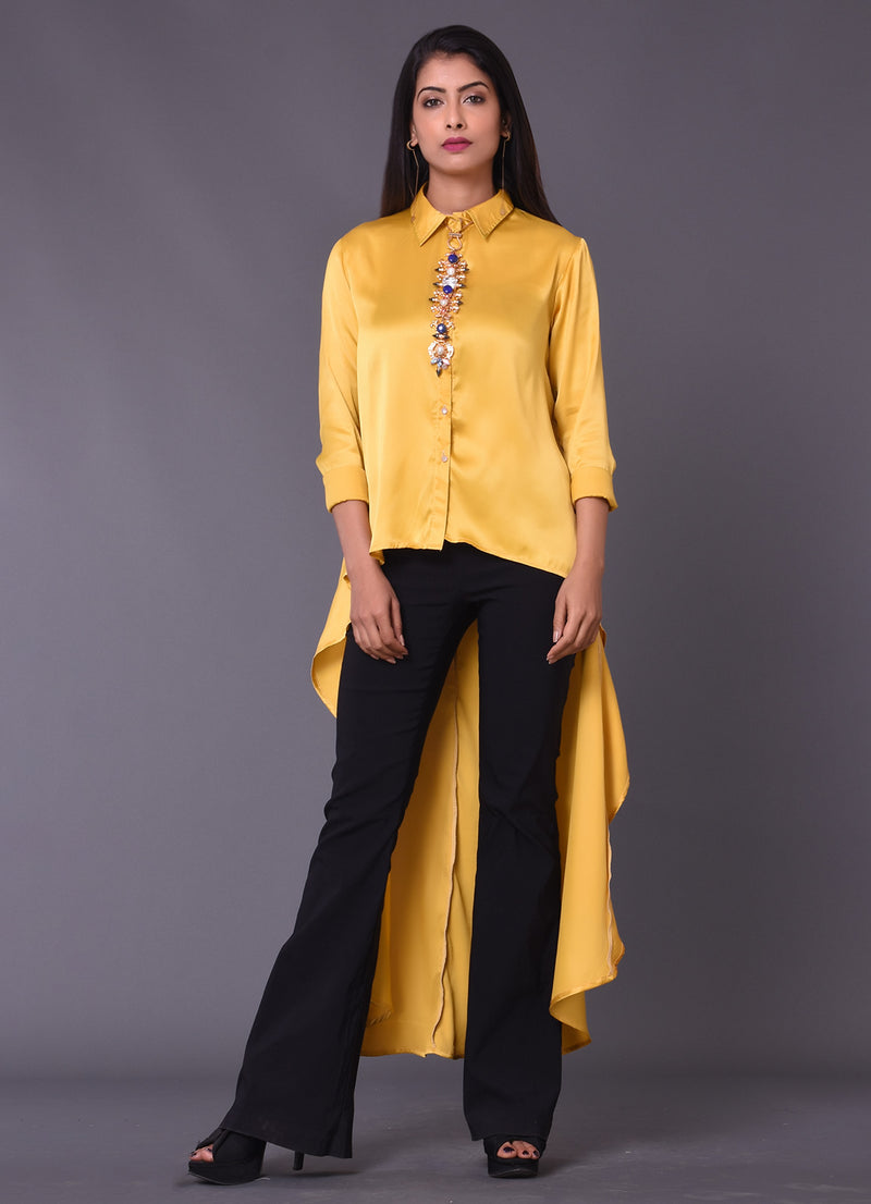 Mustard High Low Shirt
