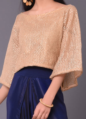 Gold Zari Crop Top