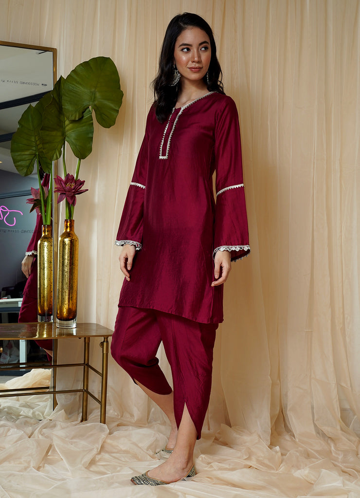Bahaar Deep Berry Tunic