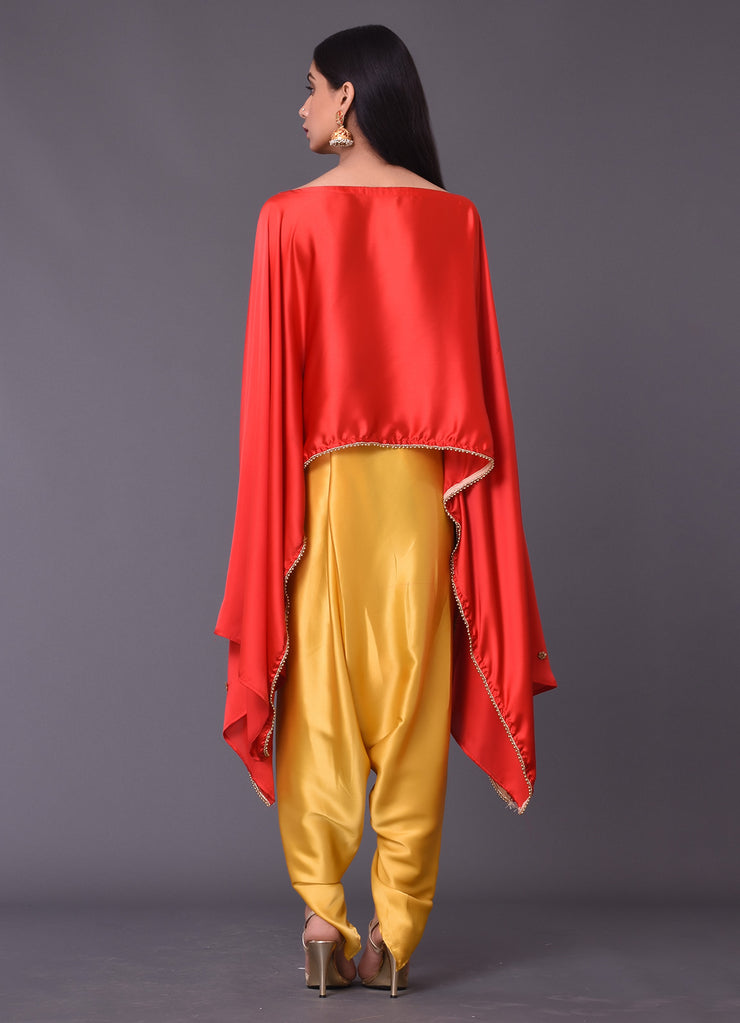 Red Cape Top