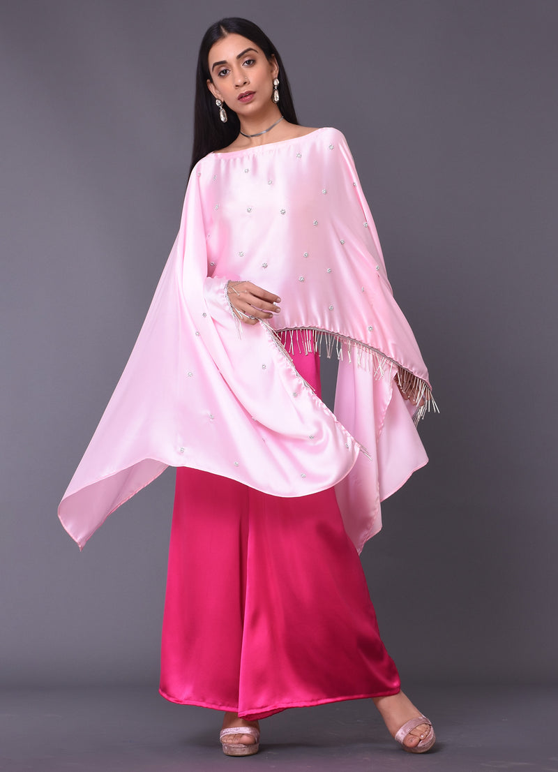 Rose Pink Cape Top