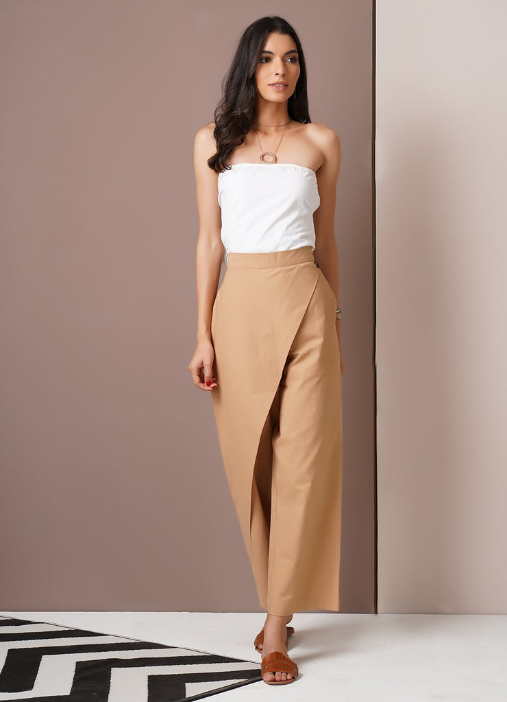 Beige Crossover Pants