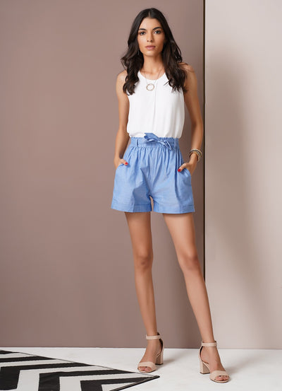 Chambray Summer Shorts