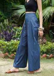 Seher Midnight Blue Pleated Pants