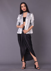Black Wrap Dhoti