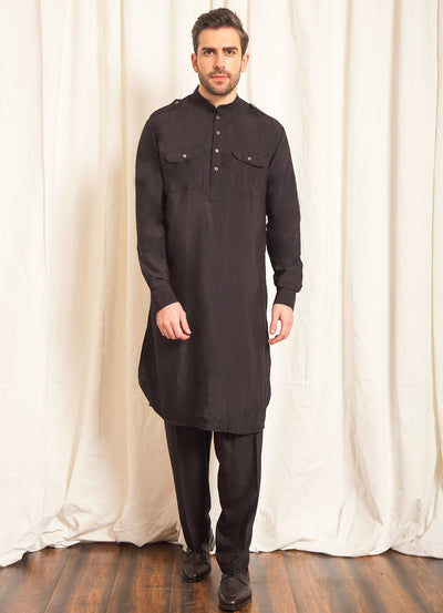 Black Pathani Set
