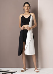Black & White Half-and-Half Dress