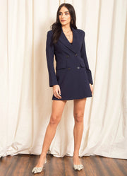 Navy Double Breasted Blazer Dress