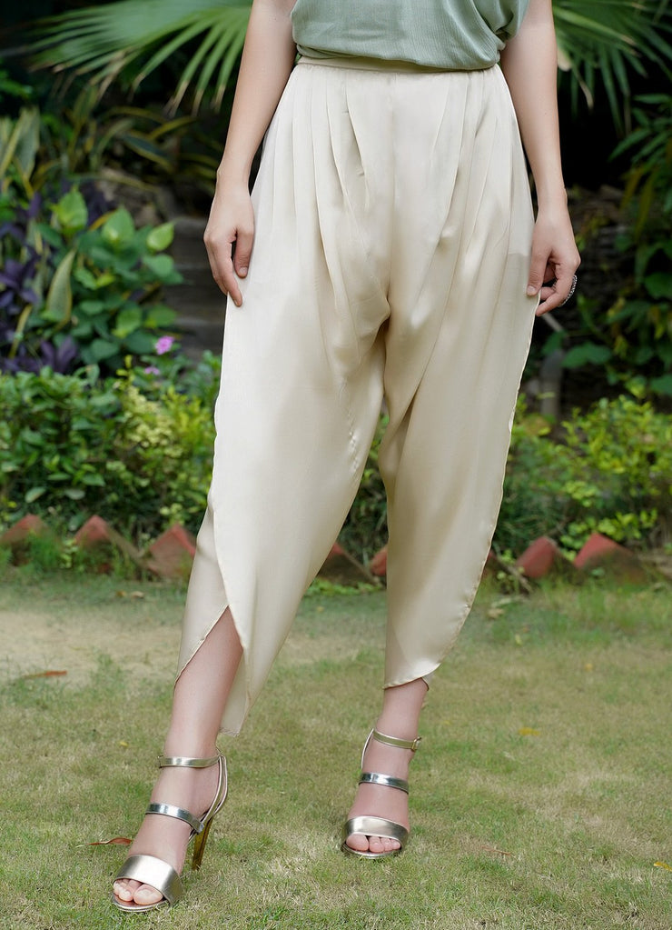 Seher champagne tulip pants
