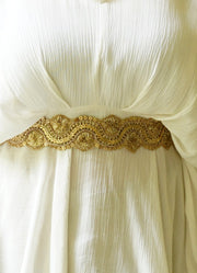 Seher Embroidered Scallop Belt