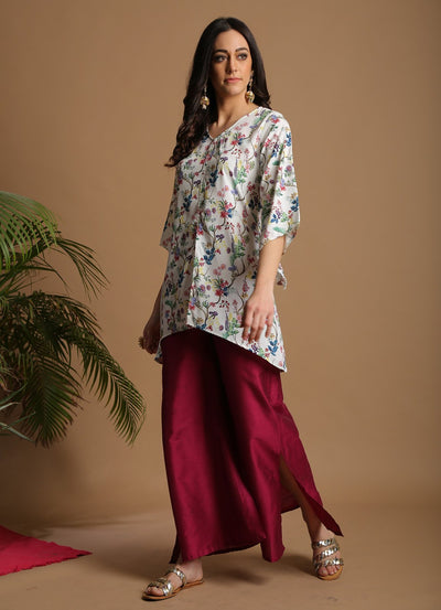 Wildflower Print Short Kurta
