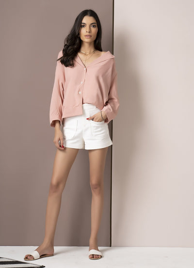 Dusty Pink Blazer Shirt