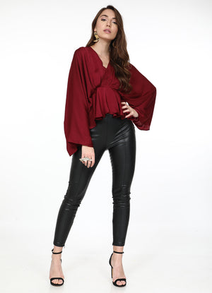 Rumba Red Butterfly Top