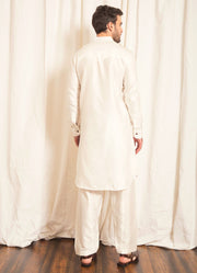 White Pathani Set
