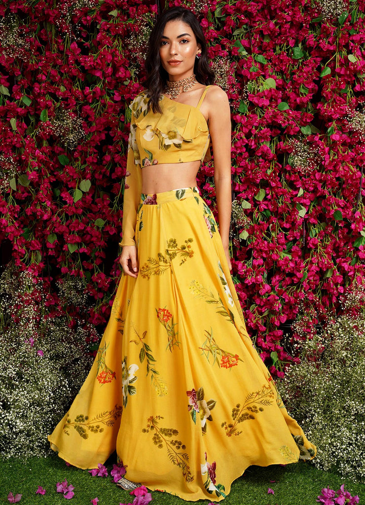 MM Floral Lehenga Skirt