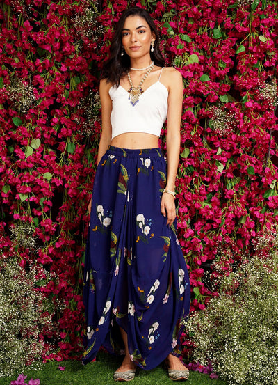MM Floral Dhoti Skirt