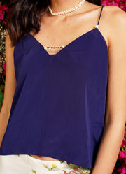 MM Navy Pearl Cami