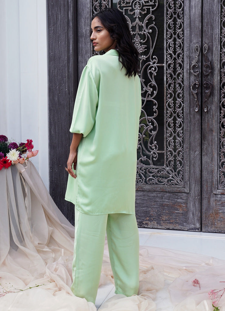 Pista Green Wide Leg Pants