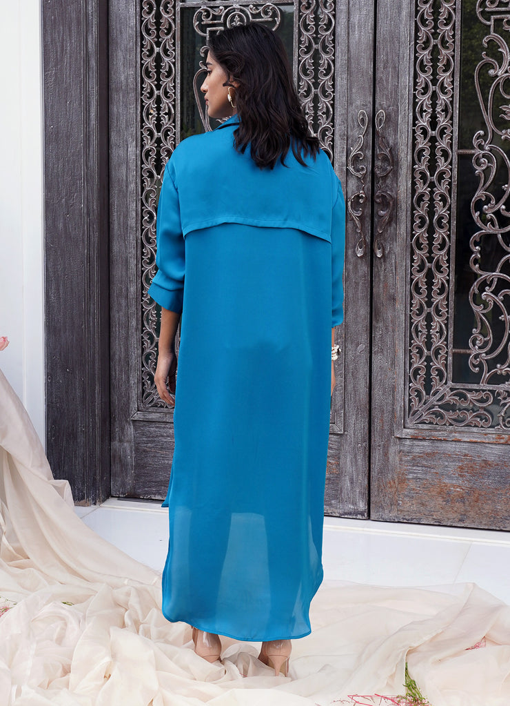 Marseille Blue Midi Dress