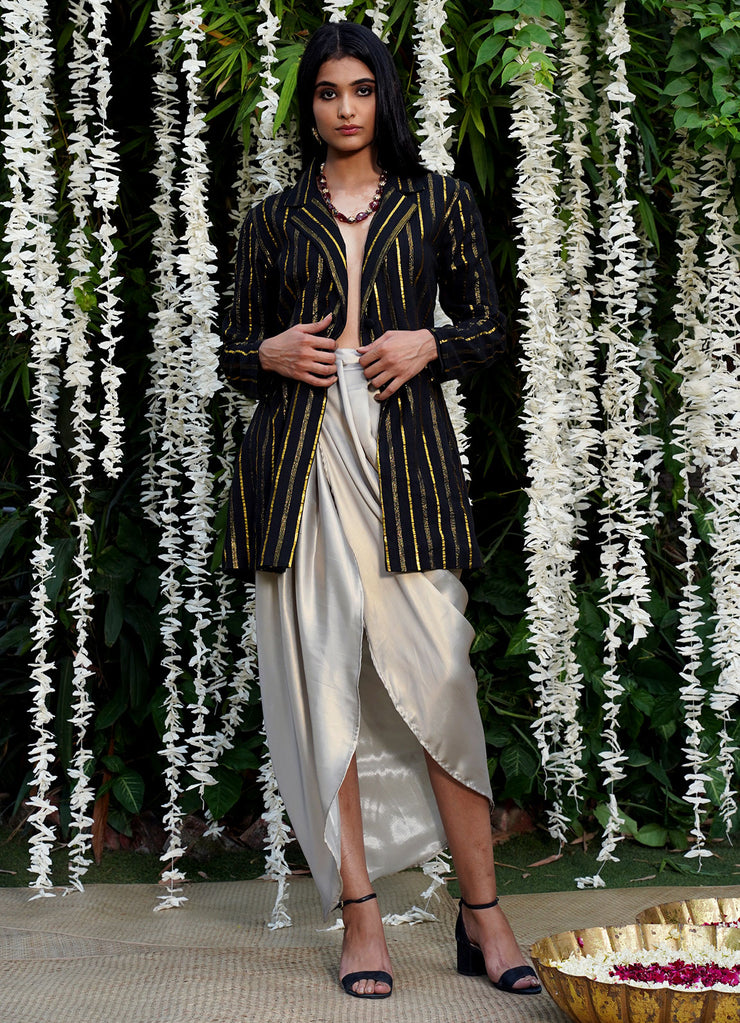 You Sparkle Metallic Wrap Dhoti