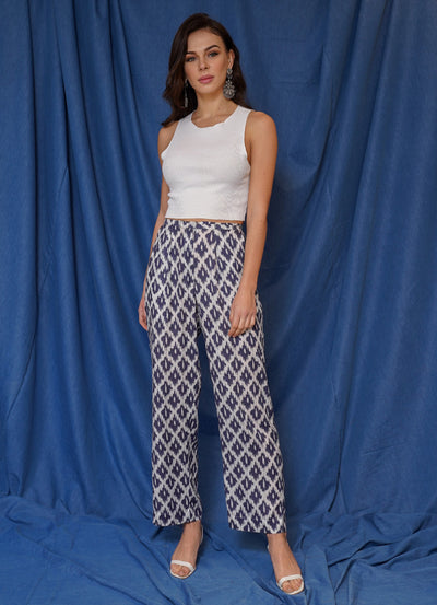 Limited Ikkat Wide Leg Pants