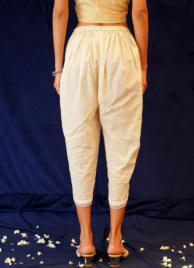 Mogra Cotton Tulip Pants