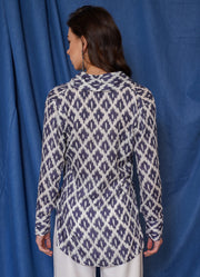 Limited Ikkat Front Knot Top
