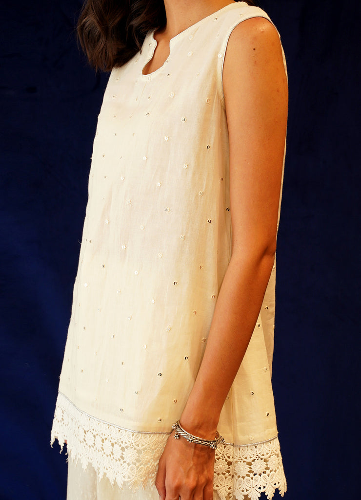 Mogra Cotton Embroidered Kurta