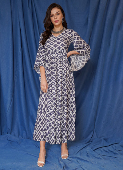 Limited Ikkat Kaftan Dress