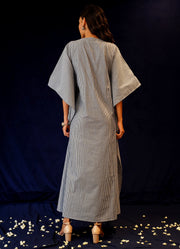 Breezy Pleated Waterfall Kaftan