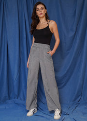 Limited Gingham Wide Leg Pants