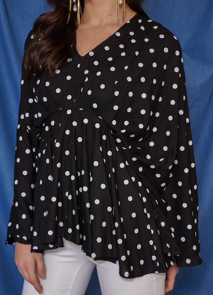 Limited Polka Butterfly Top