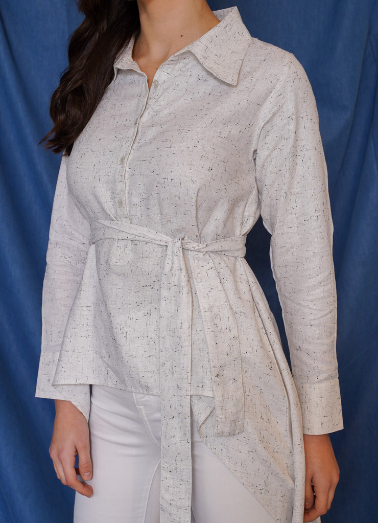Limited Textured High Low Shirt