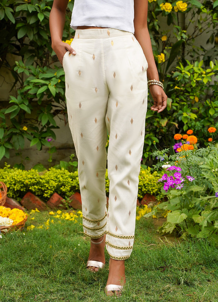 Isya Gold Lurex Classic Pants
