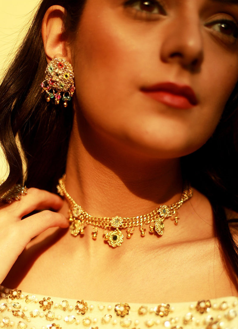 Gold Dust Choker By Fooljhadi