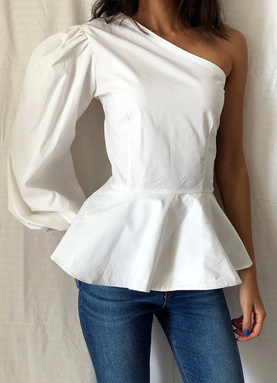 Summer Cotton Peplum Top