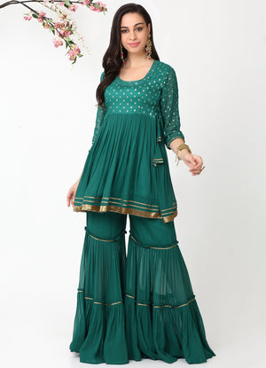 Emerald Tiered Gharara