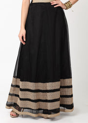 Black Organza Skirt