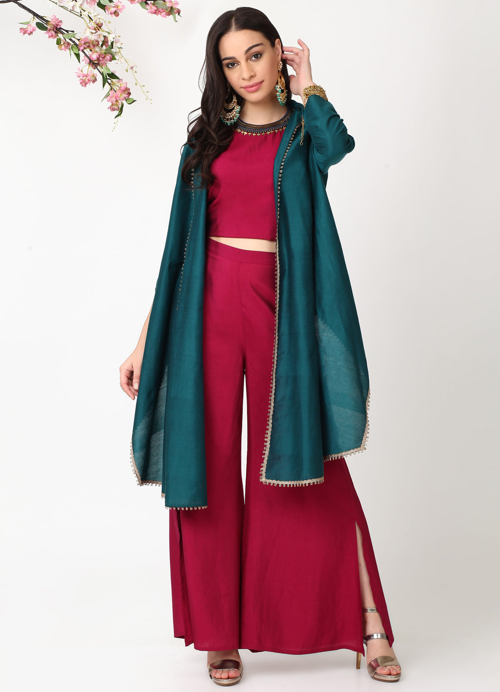 Emerald High Low Shrug