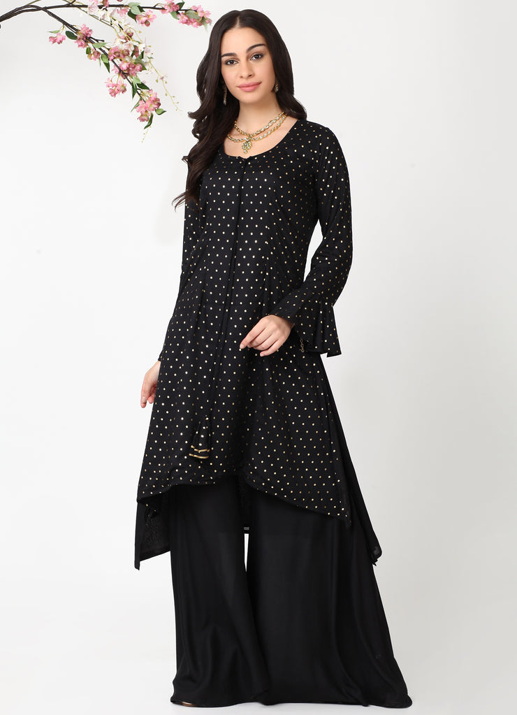 Black Handkerchief Kurta