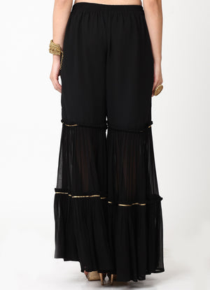 Black Tiered Gharara