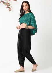 Emerald Cape Crop Top