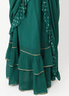 Emerald Drape Skirt Sari