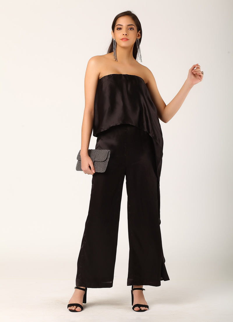 Black Waterfall Jumpsuit