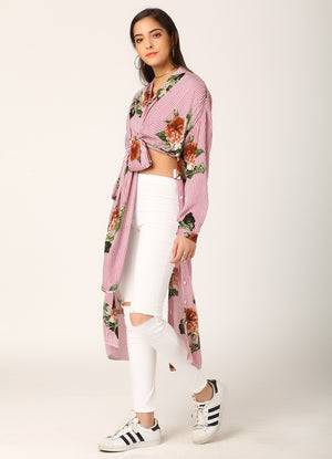 Floral Print Infinity Shirt