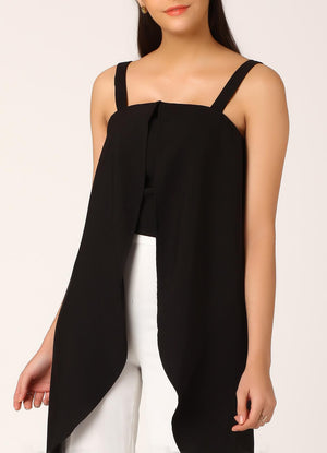 Black Waterfall Top