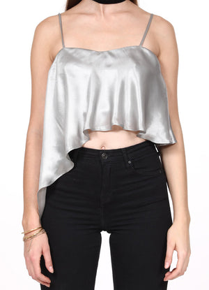 Silver Waterfall Crop Top