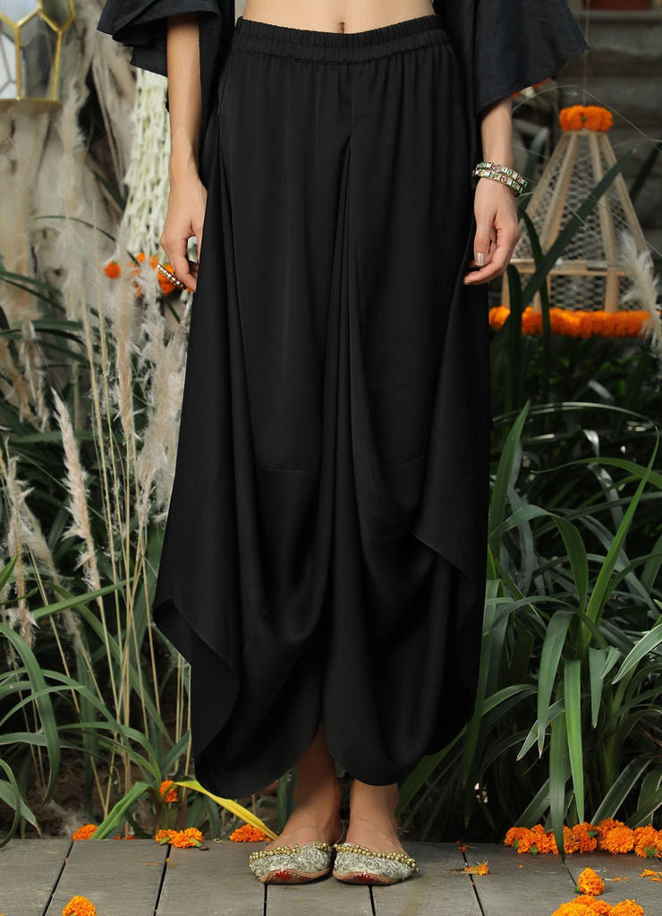 Black Dhoti Skirt