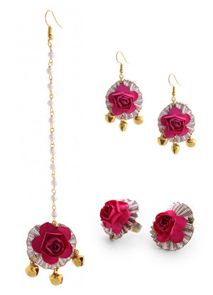 Power Pink Floral Affair Set By Prune