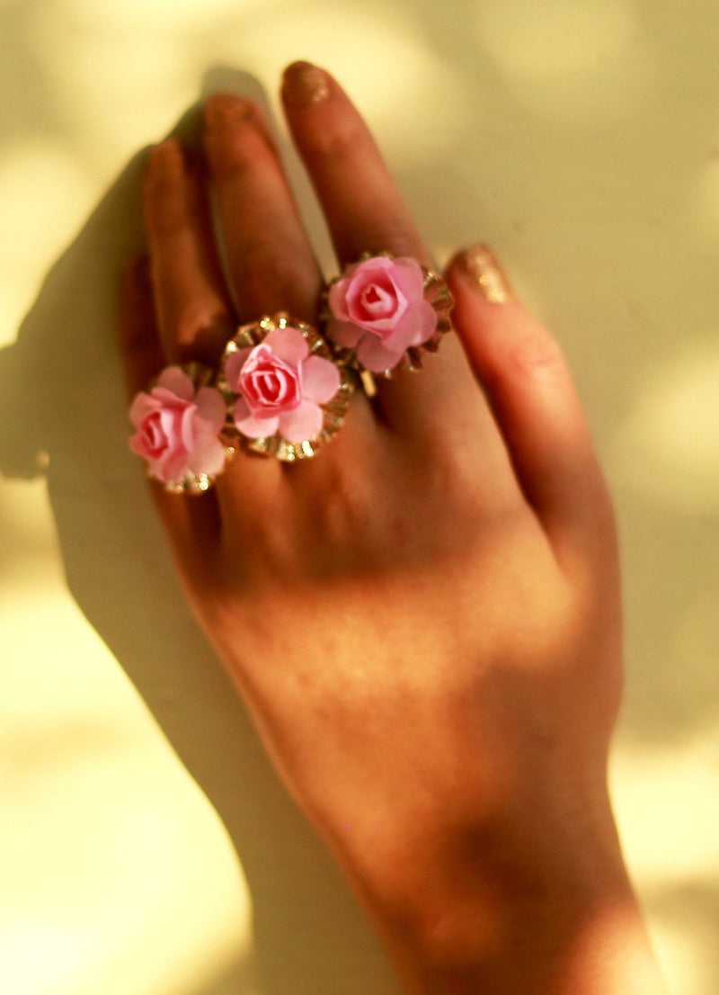 Baby Blush Floral Ring - Set Of Three By Prune